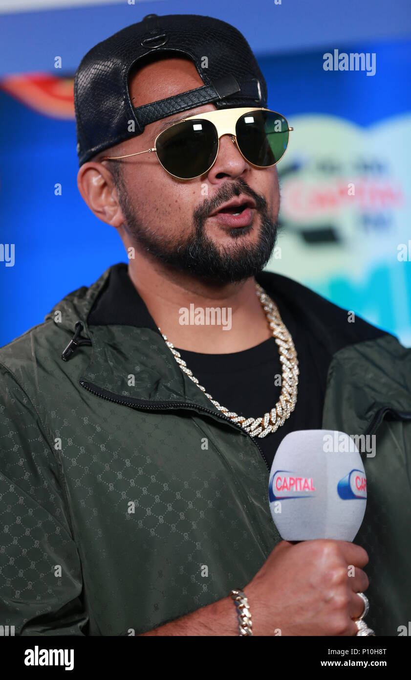 Sean Paul in the on air studio during Capital's Summertime