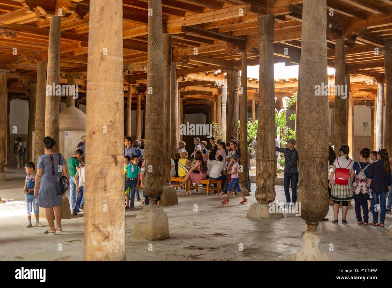 Inside Juma Mosque, Khiva, Uzbekistan - Stock Image