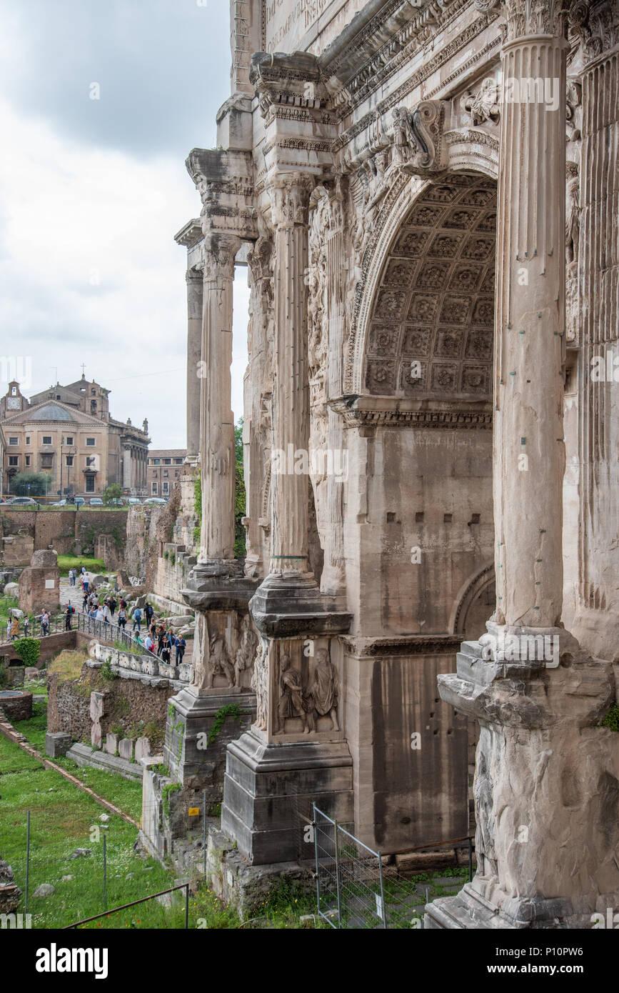 Foro romano, Rome, Italy - Stock Image