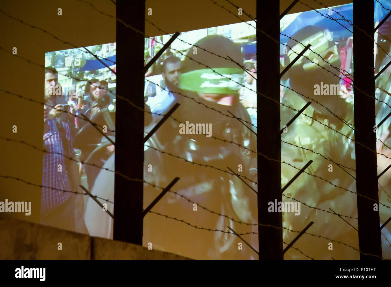 Global War of Terror film as a part of exhibion in Museum of the Second World War in Gdansk, Poland. January 23rd 2017 © Wojciech Strozyk / Alamy Stoc - Stock Image