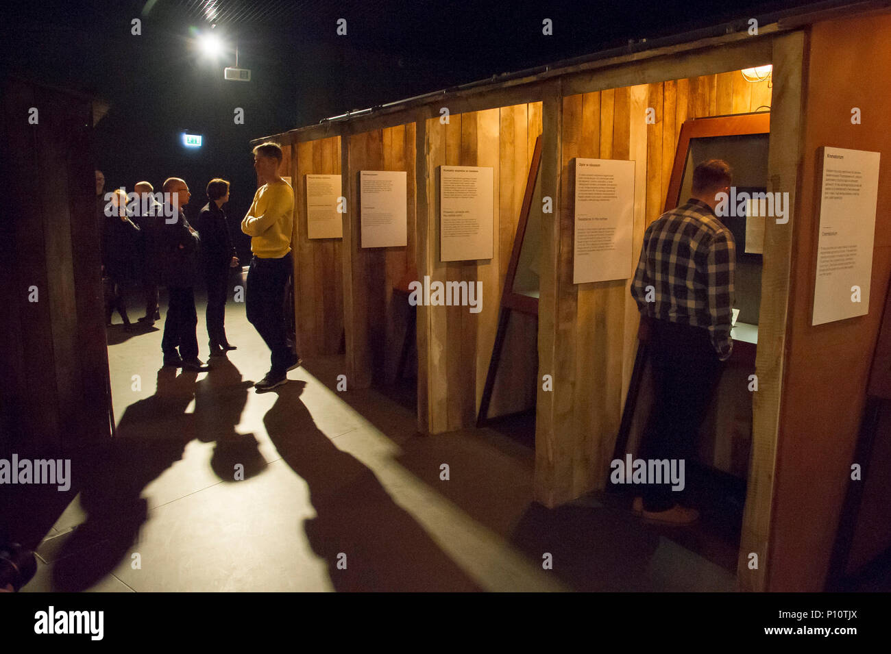 Nazi German extermination camps in occupied Poland as a part of exhibion in Museum of the Second World War in Gdansk, Poland. January 28th 2017  © Woj - Stock Image
