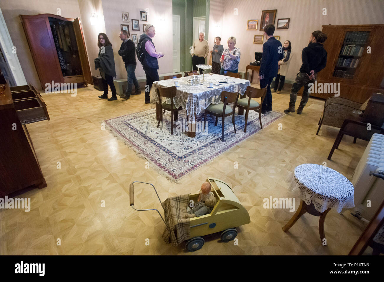 Pre war typical Polish flat as a part of exhibion in Museum of the Second World War in Gdansk, Poland. January 28th 2017 © Wojciech Strozyk / Alamy St - Stock Image