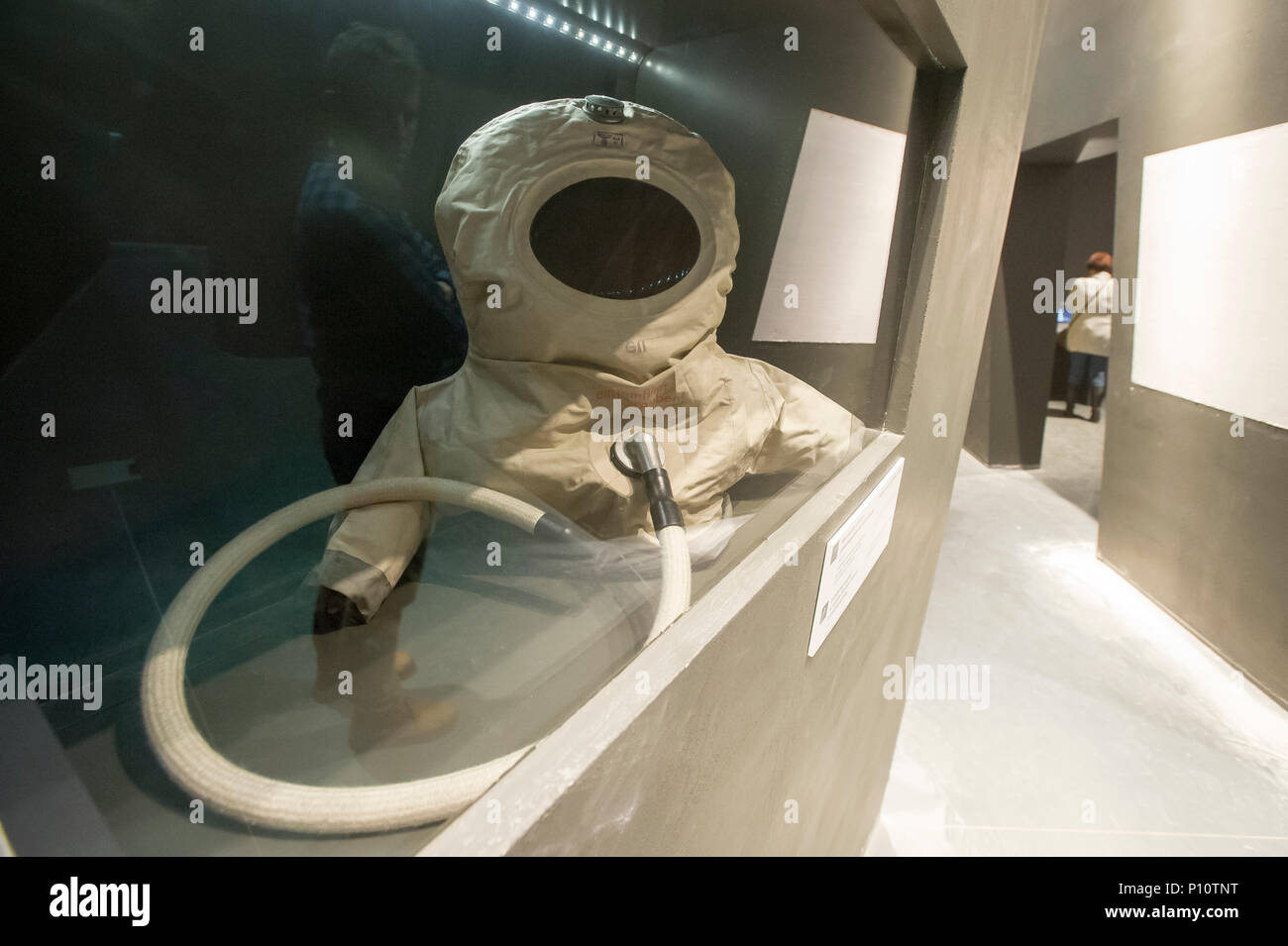 German anti gas uniform for new born children on exhibion in Museum of the Second World War in Gdansk, Poland. January 28th 2017 © Wojciech Strozyk /  - Stock Image