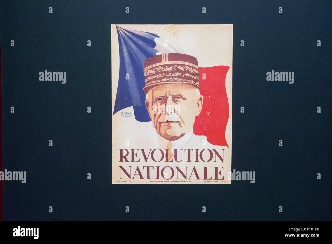 Philippe Petain as a part of exhibion in Museum of the Second World War in Gdansk, Poland. January 28th 2017  © Wojciech Strozyk / Alamy Stock Photo - Stock Image