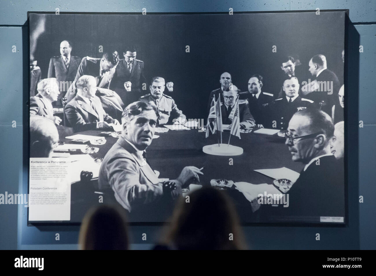 Potsdam Conference in 1945 as a part of exhibion in Museum of the Second World War in Gdansk, Poland. January 28th 2017 © Wojciech Strozyk / Alamy Sto - Stock Image