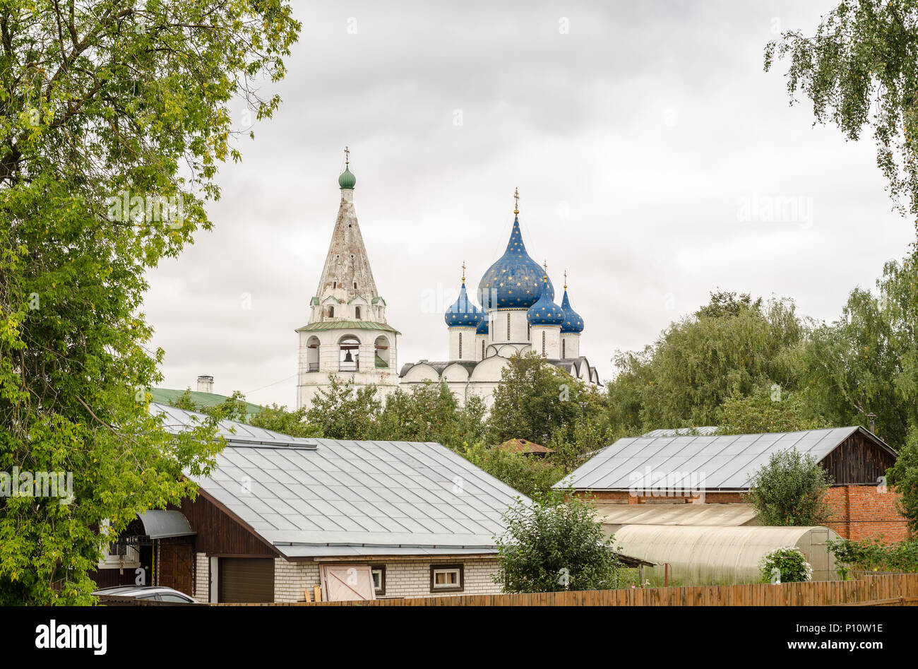 Picturesque view of the Suzdal Kremlin, Russia. Golden Ring Of Russia - Stock Image