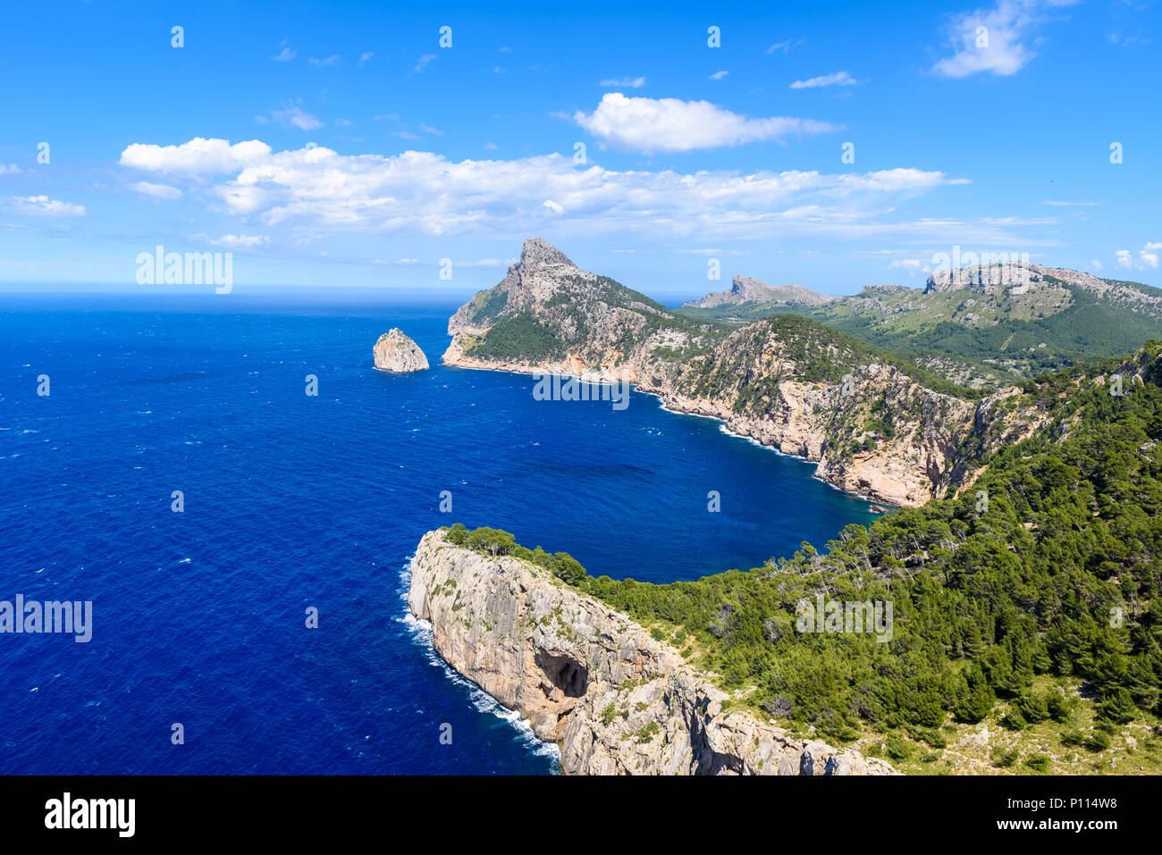 Cap de formentor - beaufitul coast of Mallorca, Spain - Europe - Stock Image
