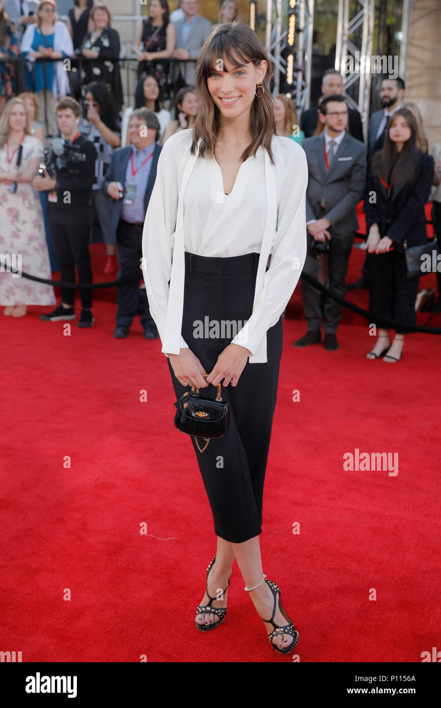 Quebec musician Charlotte Cardin during the red carpet event of the Artis Gala for Quebec television, held at the Denise-Pelletier theatre in Montreal - Stock Image
