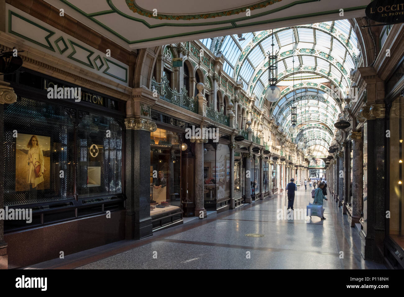 County Arcade in the Victoria Quarter, Leeds, West Yorkshire, England, UK - Stock Image