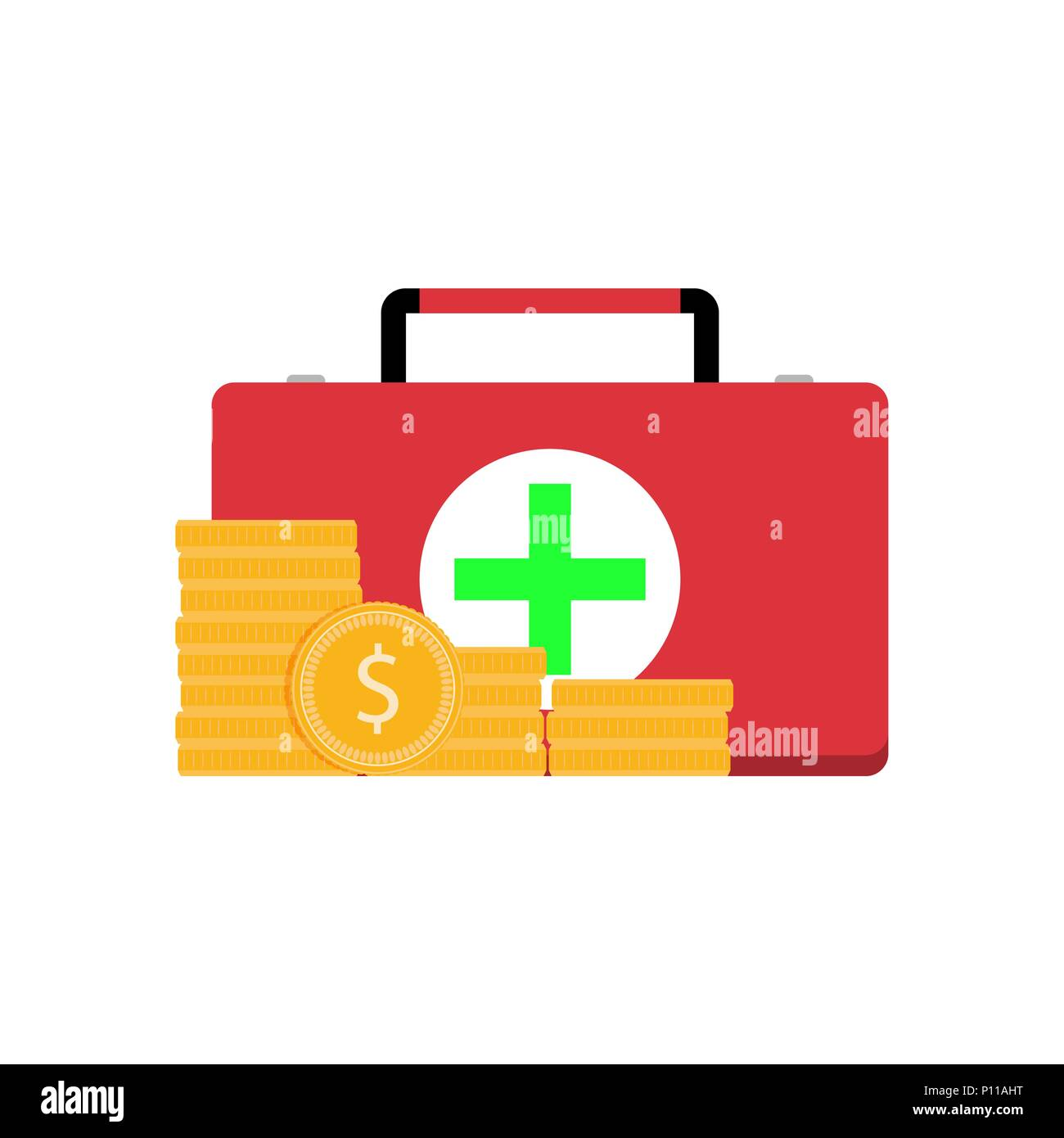 Paid Medicine Services Pay For Medical Care Health Vector
