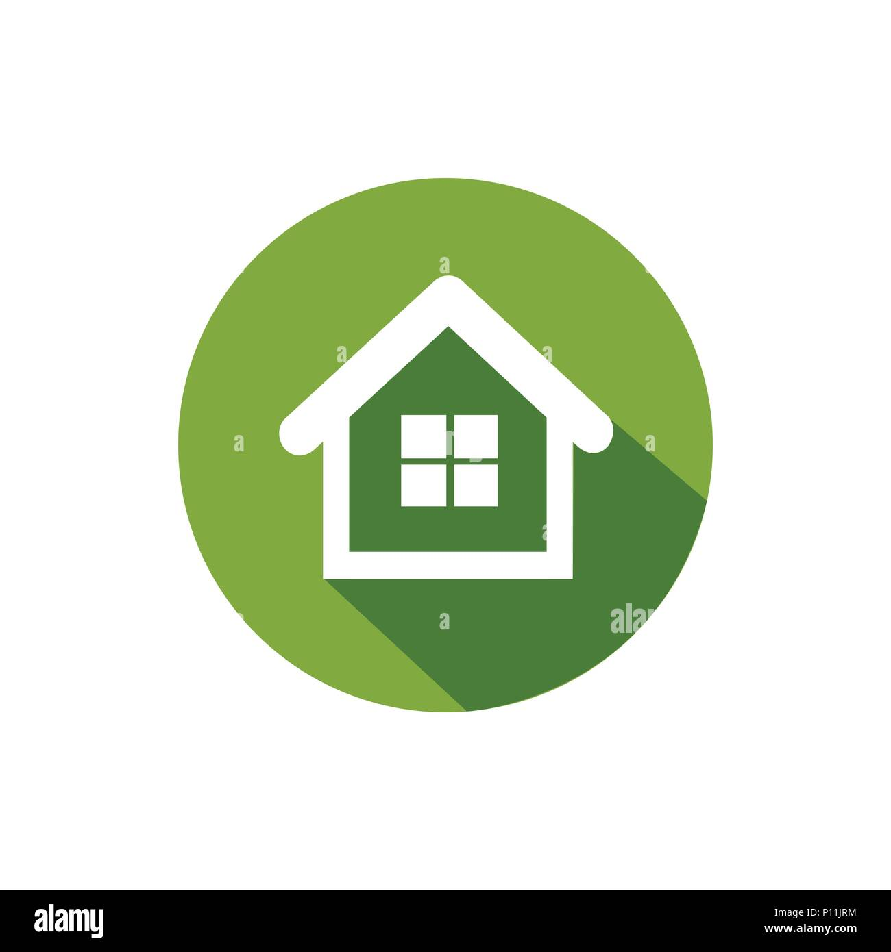 Green house icon, clipart - Stock Vector