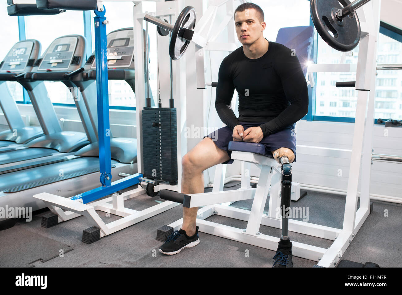 Disability man - Stock Image