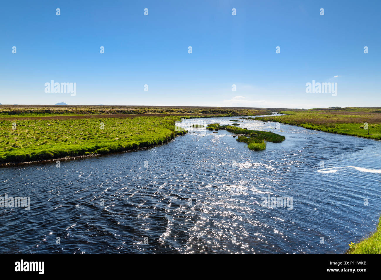 A summers day at the River Thurso near Altnabreac, Halkirk, in Caithness, Scotland. 24 May 2018 Stock Photo