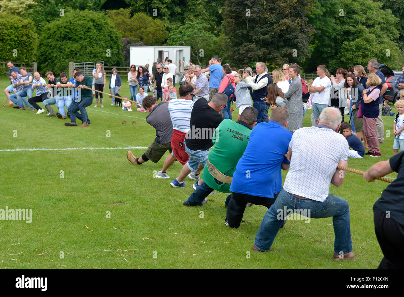 Tug Of War Match At Courteenhall House Northamptonshire During The 2018 Bi Annual Summer Fete