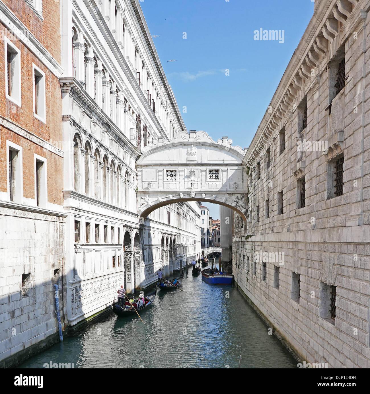 Bridge of Sighs Ponte dei Sospiri), Venice, Italy - Stock Image