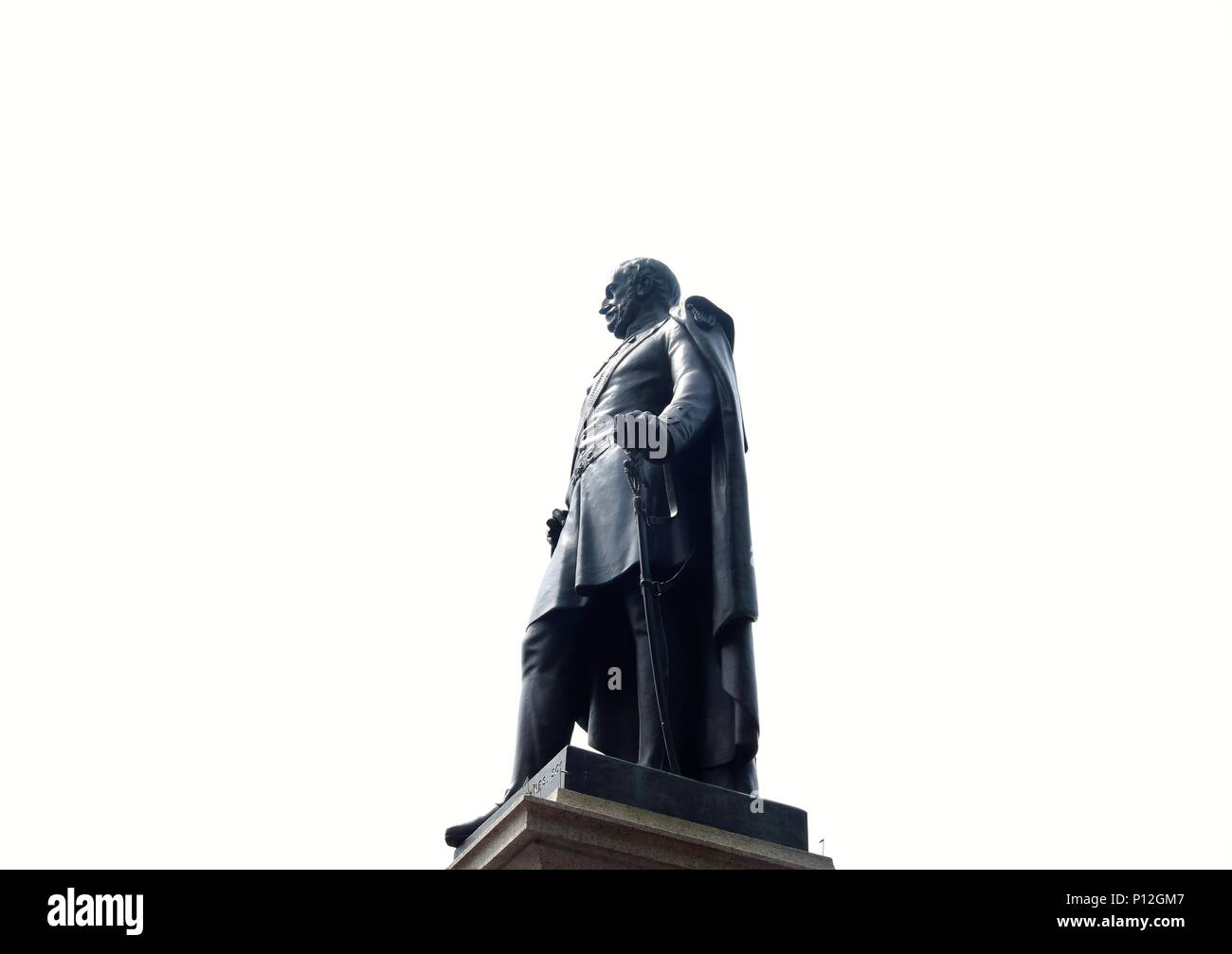General Charles James Napier statue in Trafalgar Square, London, UK - Stock Image
