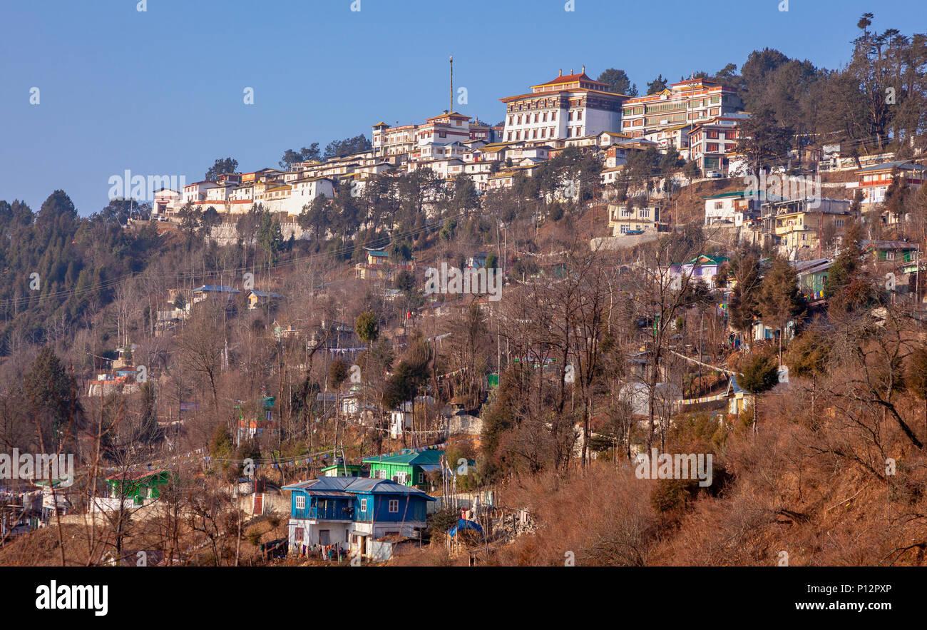 View of Galden Namgey Lhatse Monastery, Tawang, Arunachal Pradesh, India - Stock Image