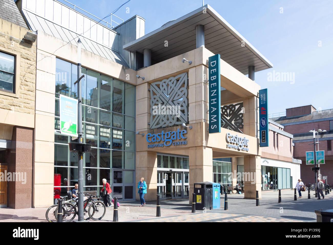 Entrance to Eastgate shopping Centre, Eastgate, Inverness, Highland, Scotland, United Kingdom - Stock Image