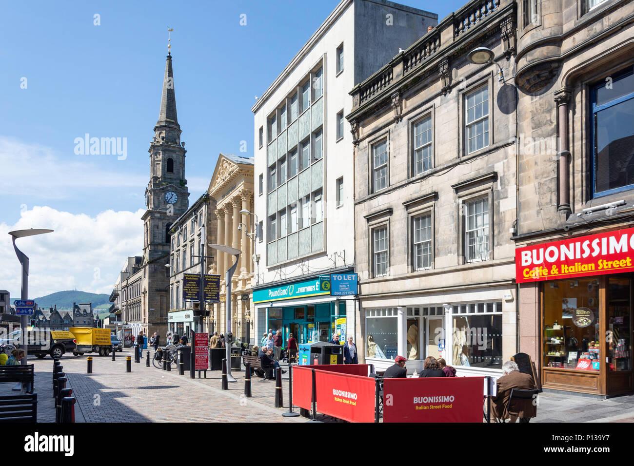 Pedestrianised High Street, Inverness, Highland, Scotland, United Kingdom - Stock Image