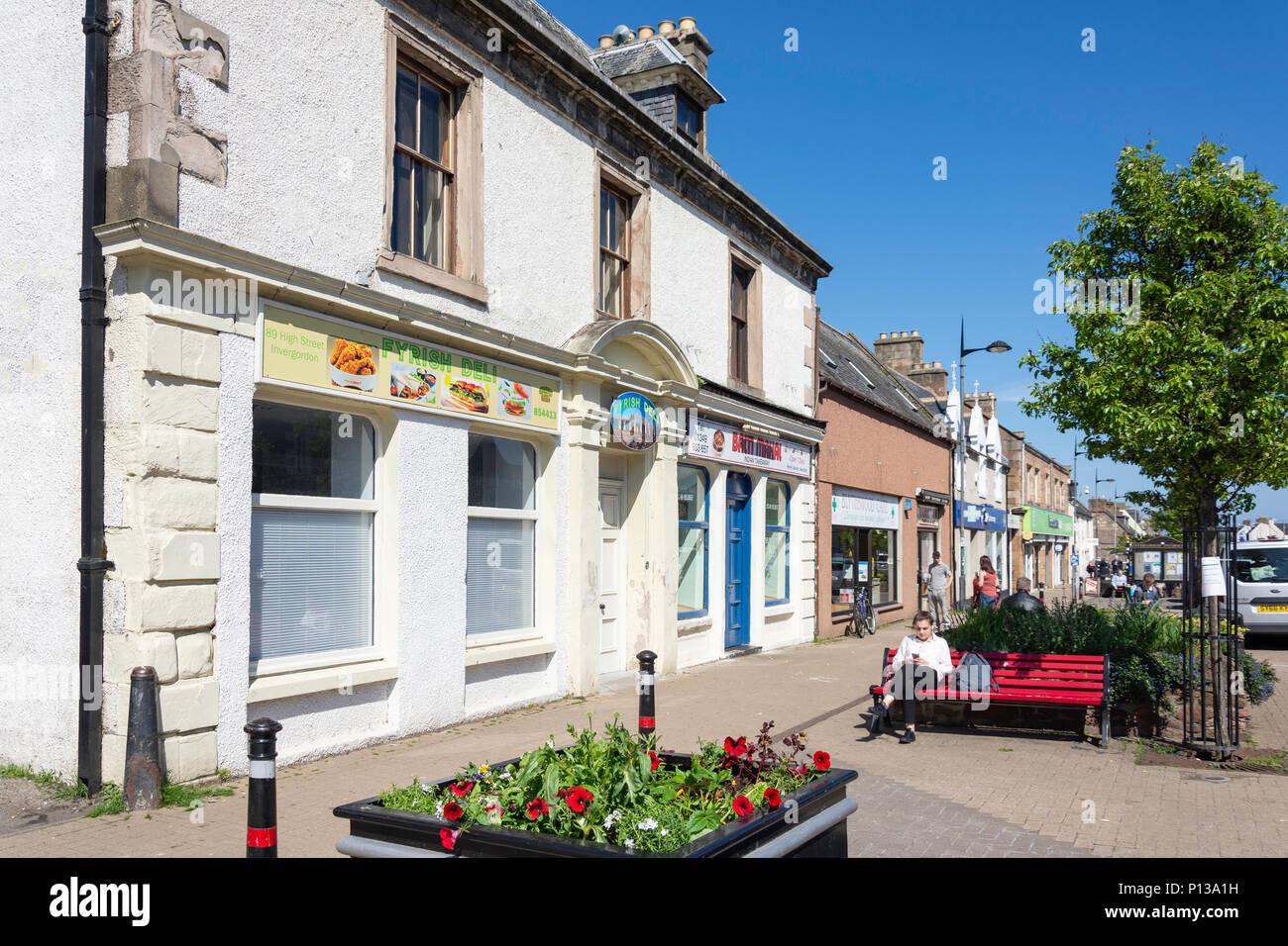 High Street, Invergordon, Highland, Scotland, United Kingdom - Stock Image