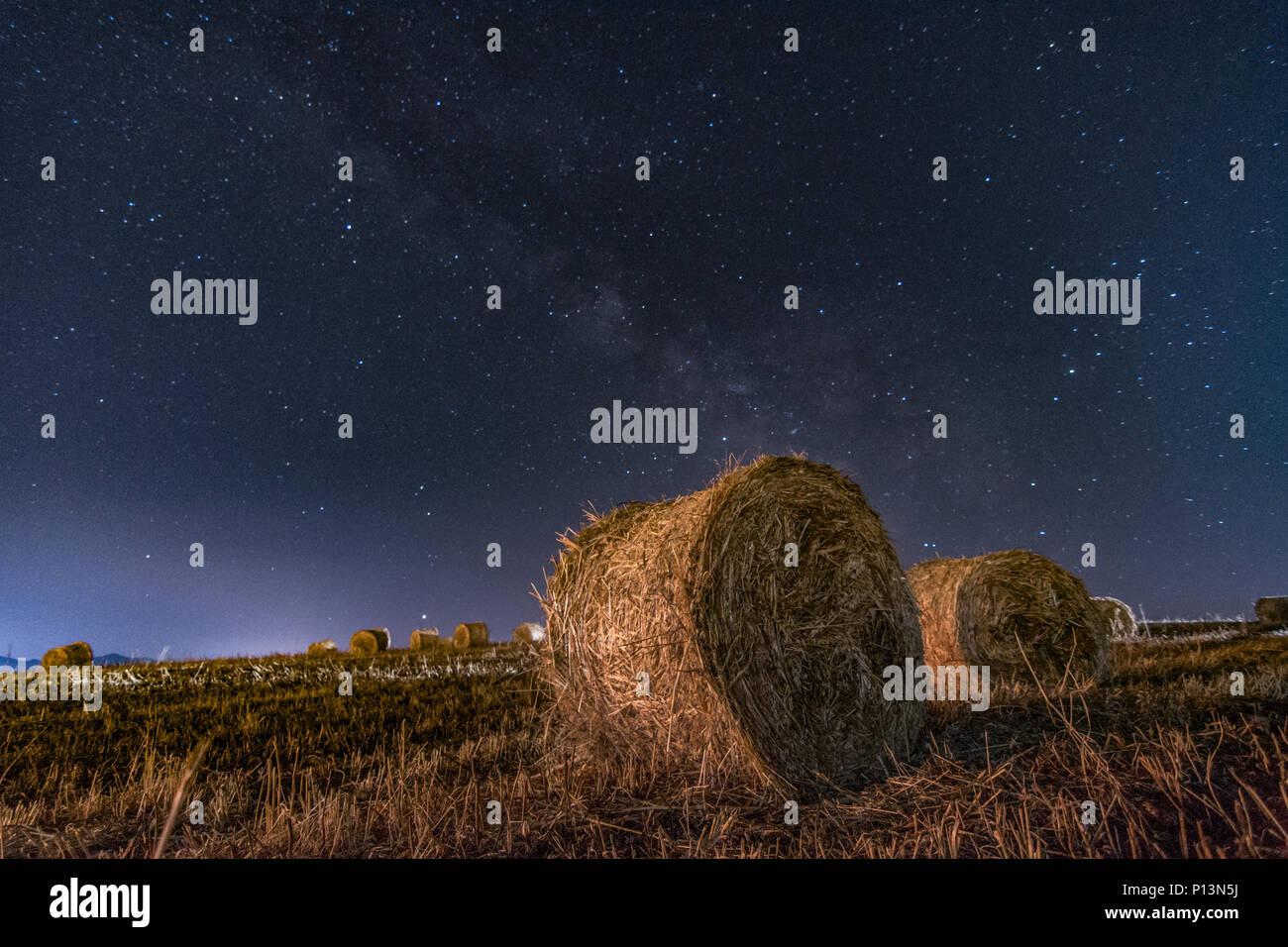 STARRY SKY IN SICILY - Stock Image