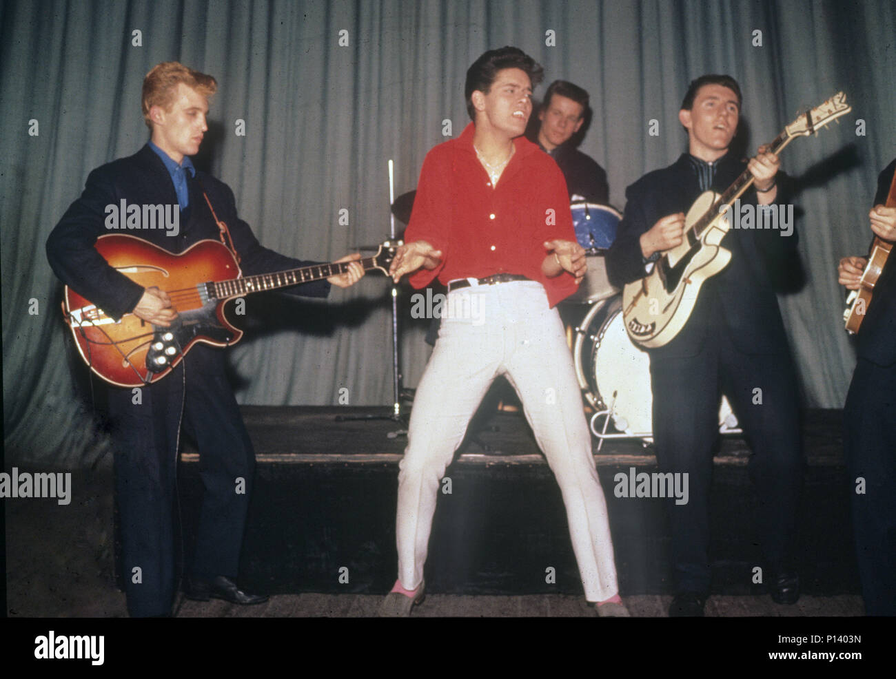 CLIFF RICHARD AND THE SHADOWS about 1960 with from left: Jet Harris, Cliff Richard, Tony Meehan,Bruce Welch - Stock Image