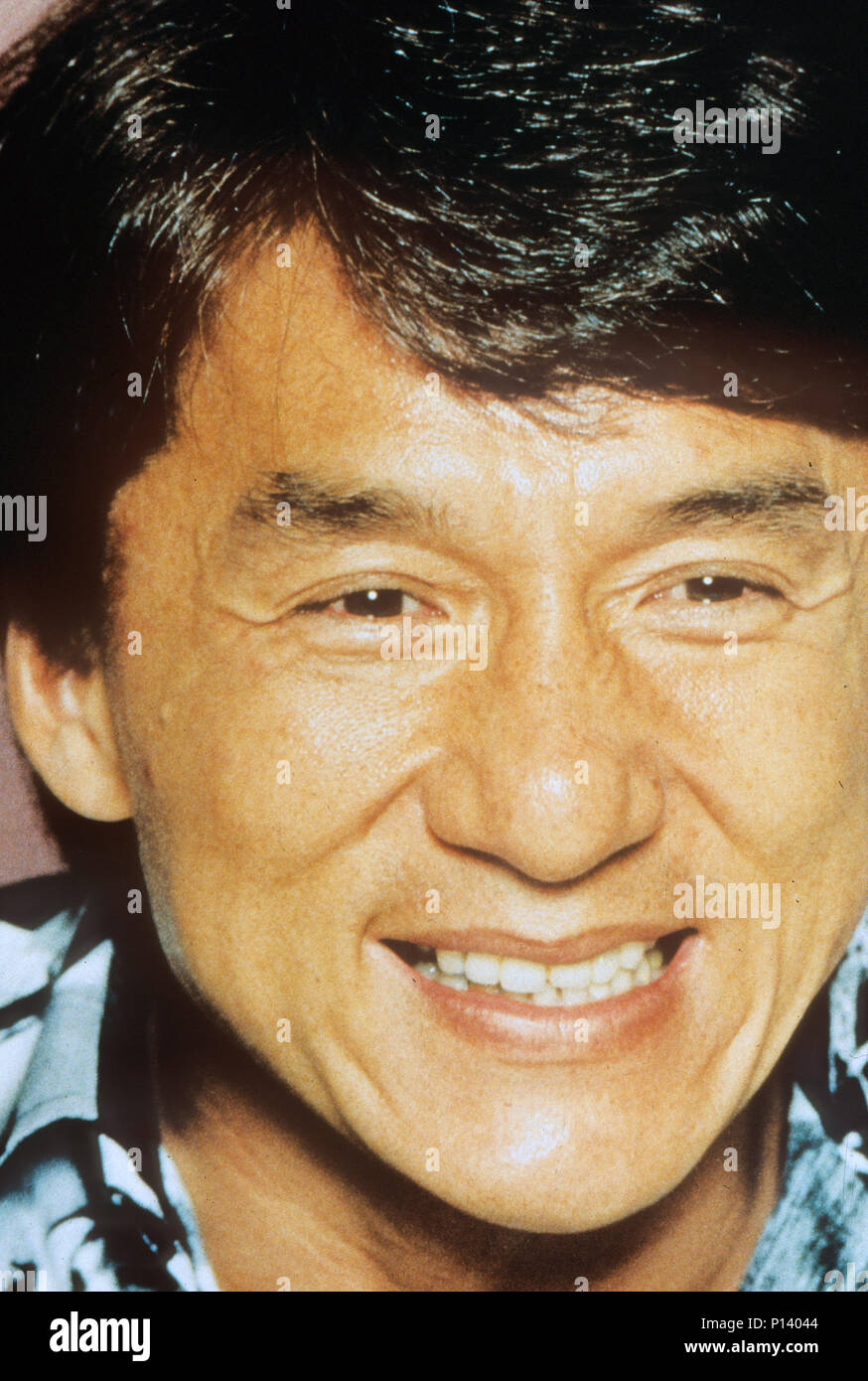 JACKIE CHAN Hong Kong martial arts film actor and singer about 1990 - Stock Image