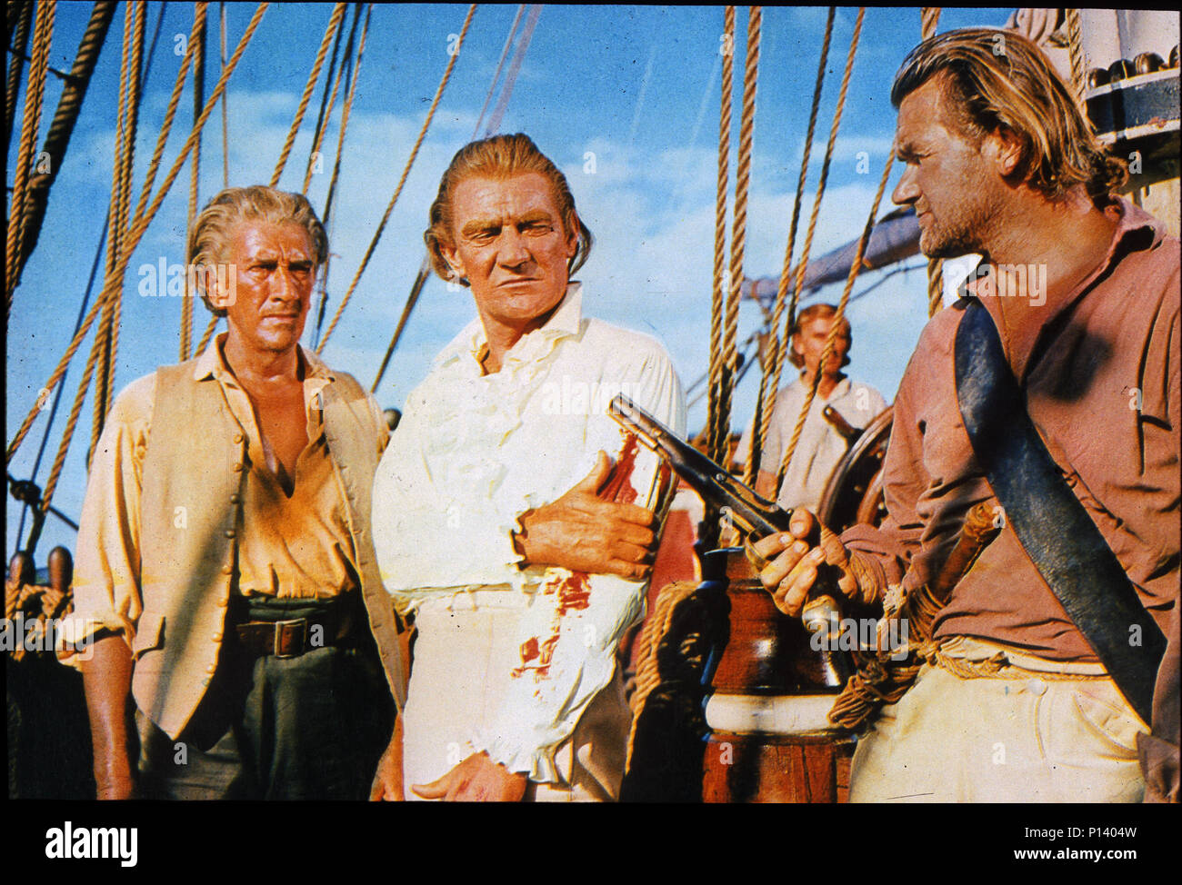 MUTINY ON THE BOUNTY 1962 MGM film with Trevor Howard as Capt William Bligh - Stock Image