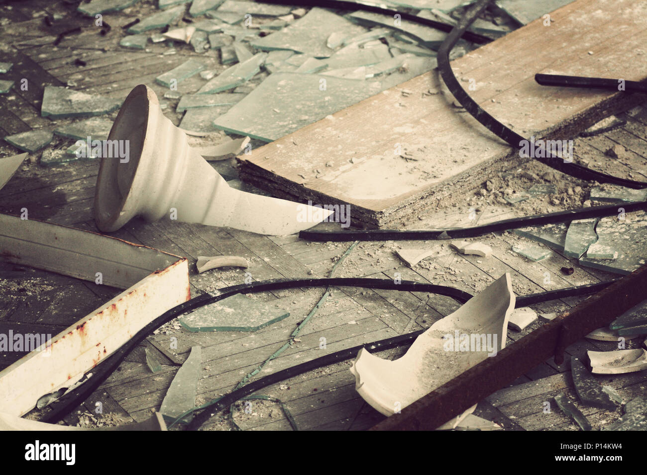 Abandoned City of Pripyat, Chernobyl, Ukraine. - Stock Image