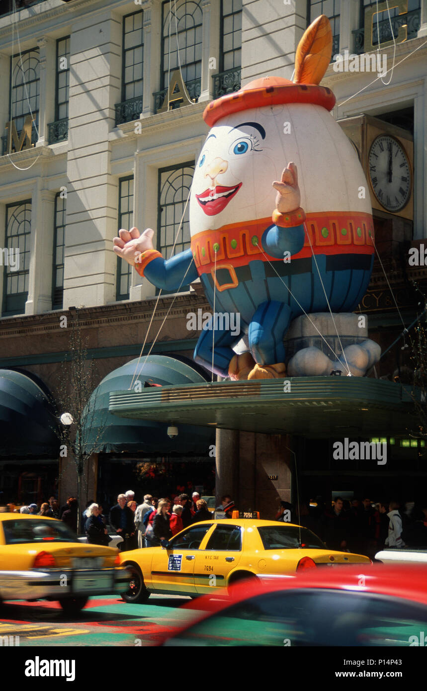 Easter Decorations, 1999, Macy's , 34th Street Entrance, NYC, USA - Stock Image