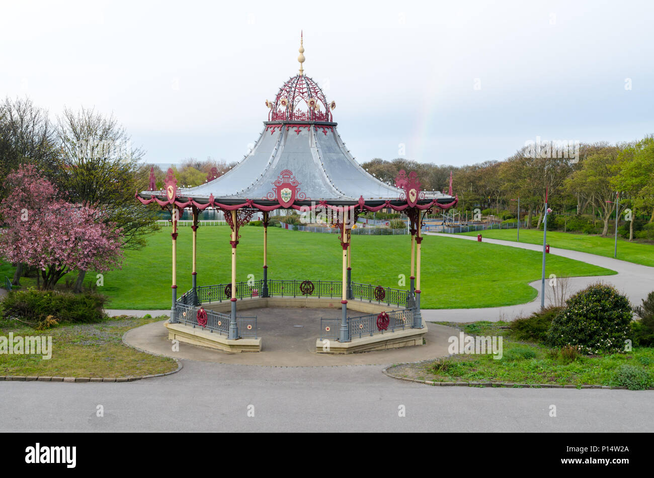 The Bandstand at South Marine Park, South Shields - Stock Image
