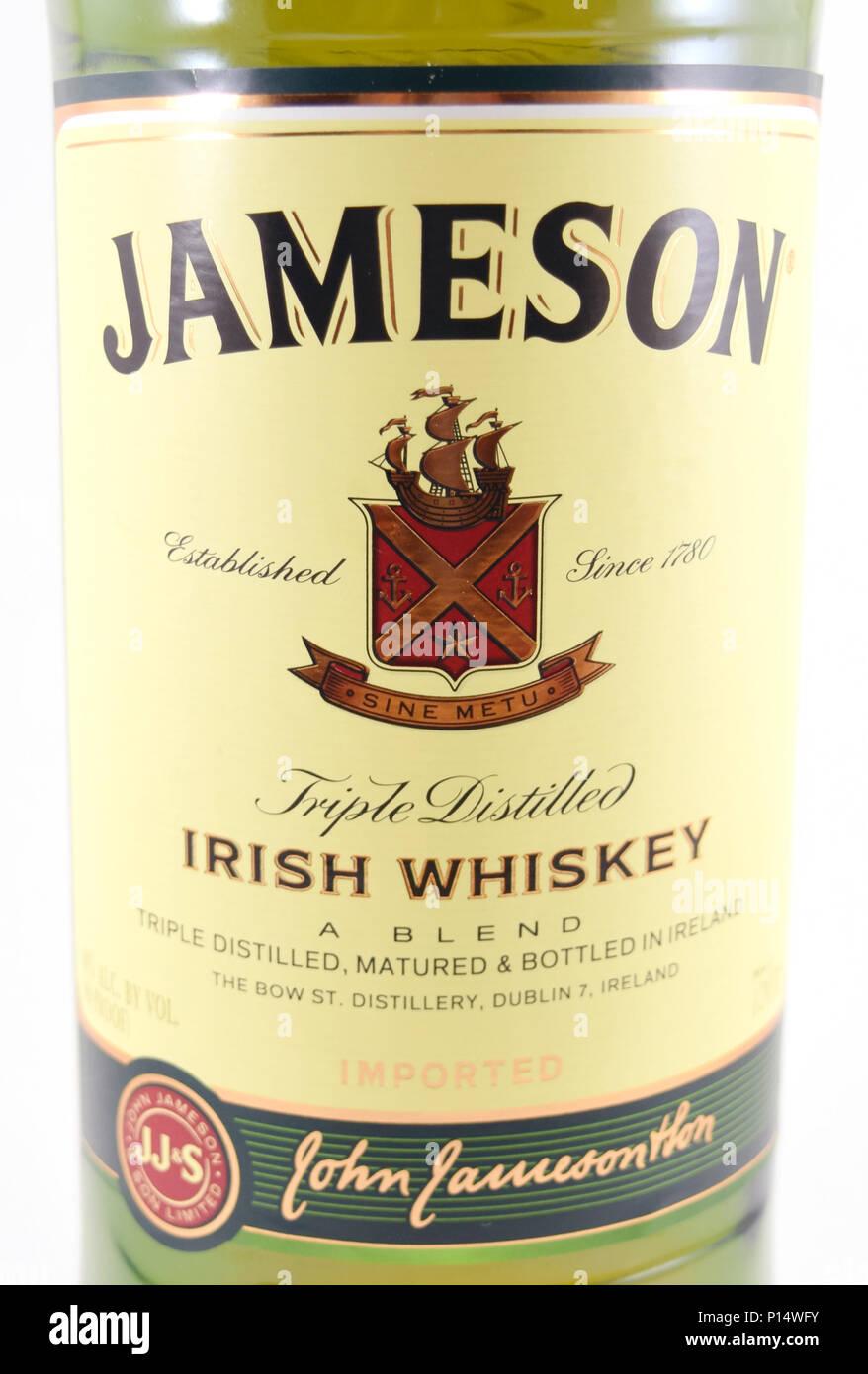 Bottle Of Jameson Stock Photos & Bottle Of Jameson Stock