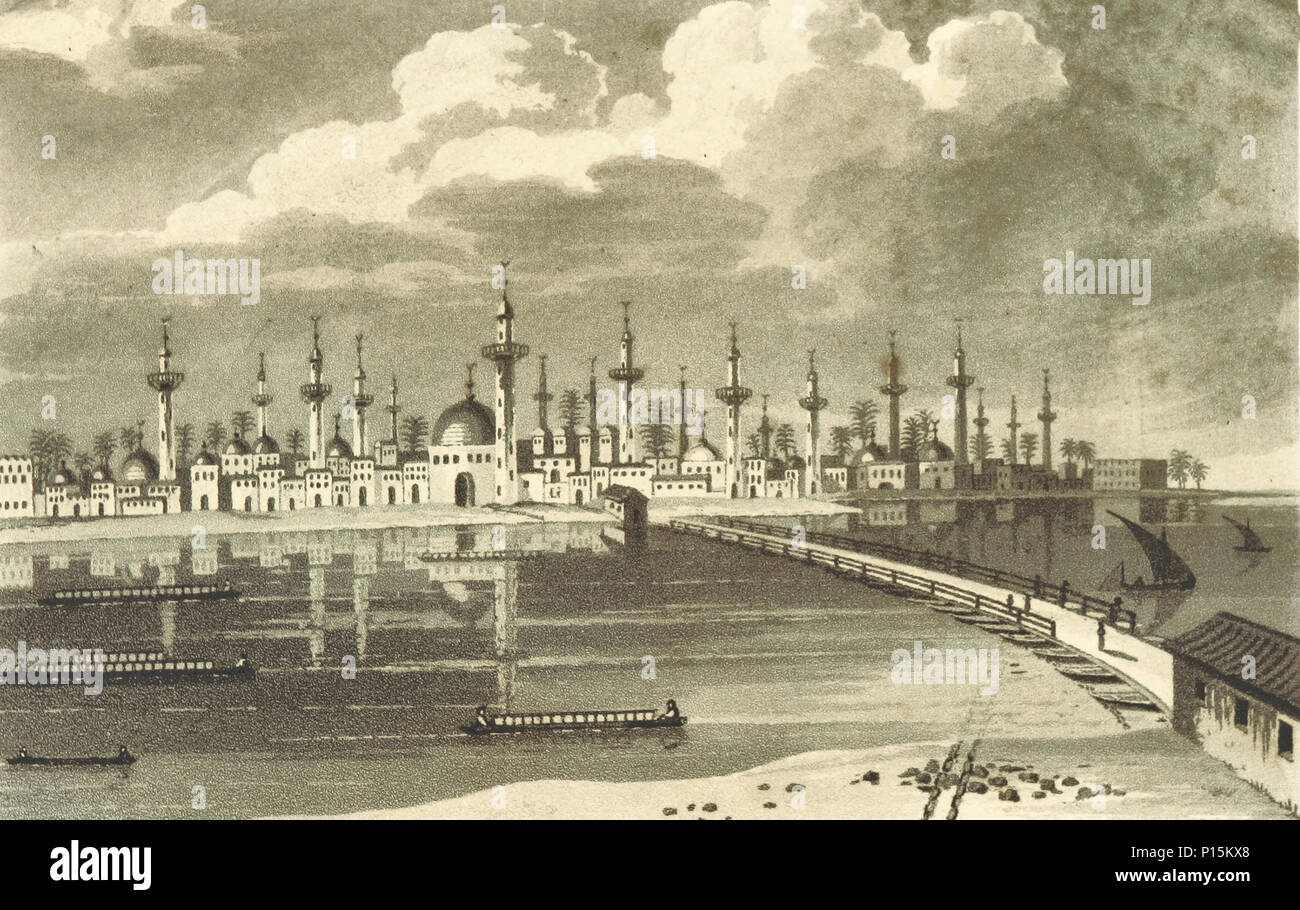 View of Bagdad on the Persian side of the Tigris, circa 1808 - Stock Image