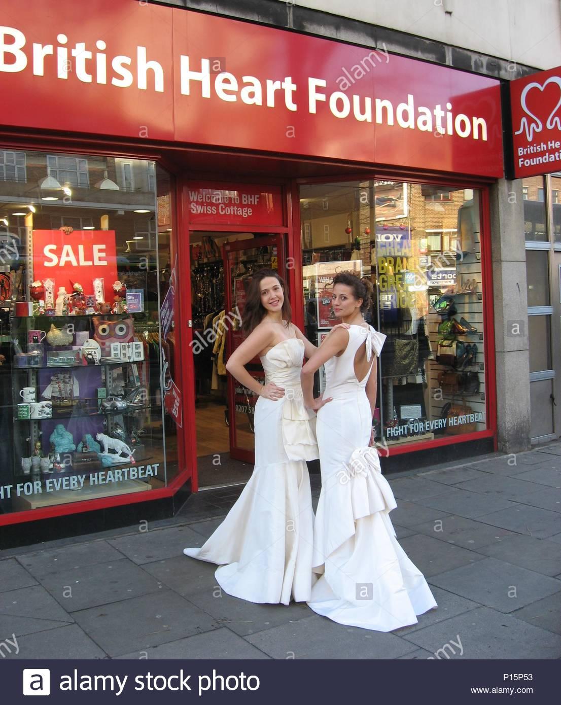 BHF shop receives donation of 30 brand new designer wedding dresses ...