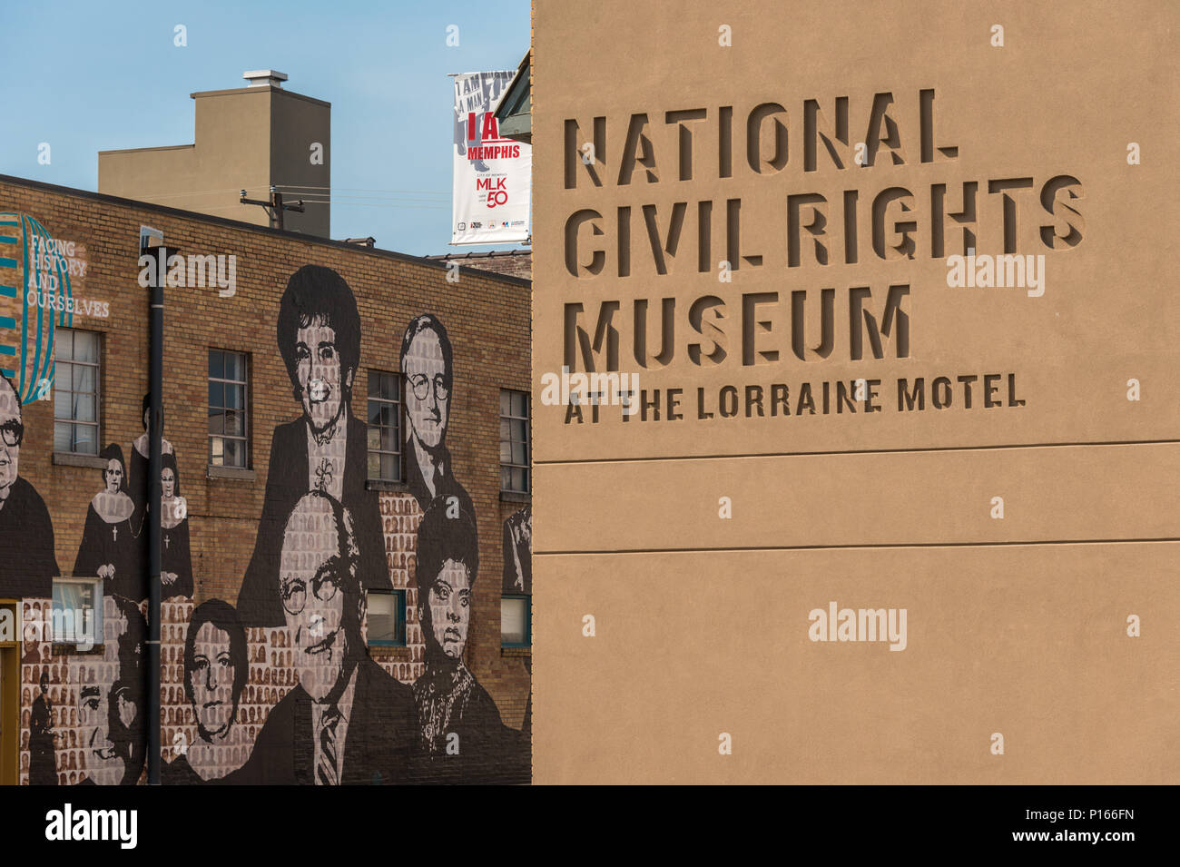 National Civil Rights Museum at the Lorraine Motel, site of the assassination of Martin Luther King in 1968, in Memphis, TN. Stock Photo