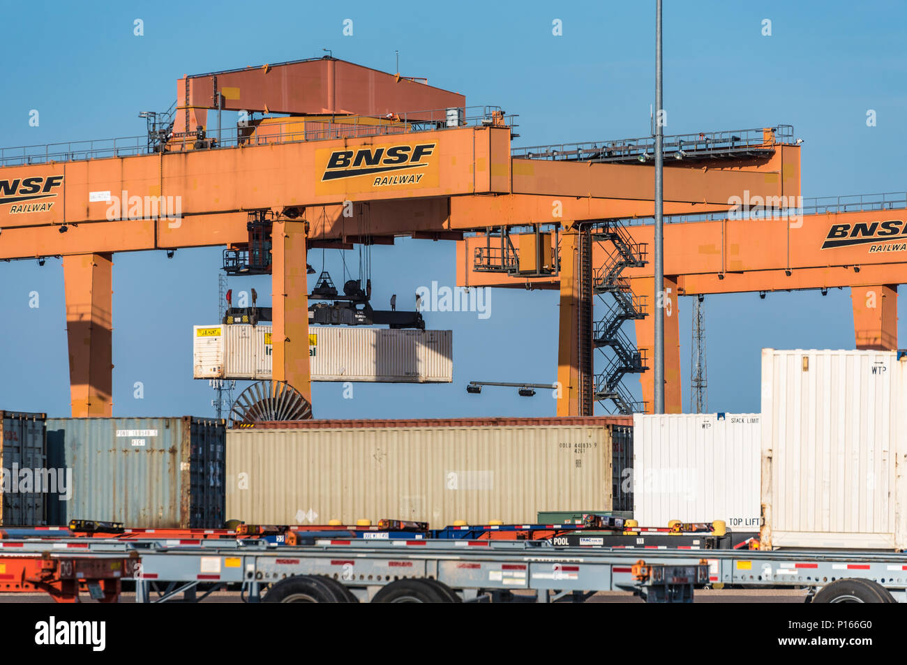 BNSF Intermodal Facility in Memphis, Tennessee. (USA) - Stock Image