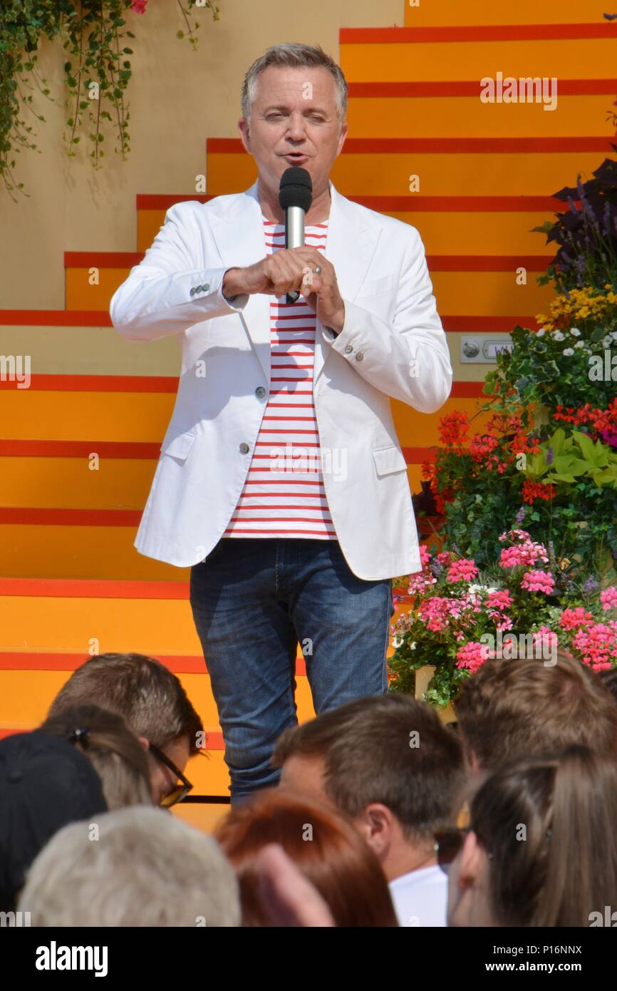 Rust, Germany, 10th June, 2018, ARD TV-Show 'Immer wieder Sonntags' mit Stefan Mross and Jörg Knör, Credit: mediensegel/Alamy Live News - Stock Image
