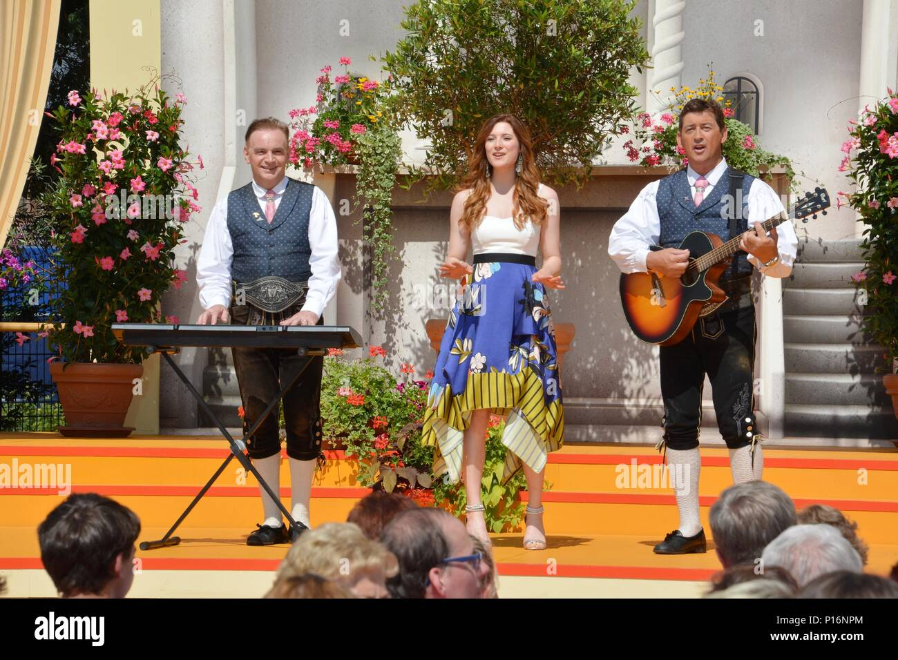 Rust, Germany, 10th June, 2018, ARD TV-Show 'Immer wieder Sonntags' mit Stefan Mross, Die Ladiner and Nicol Stuffer, Credit: mediensegel/Alamy Live News - Stock Image