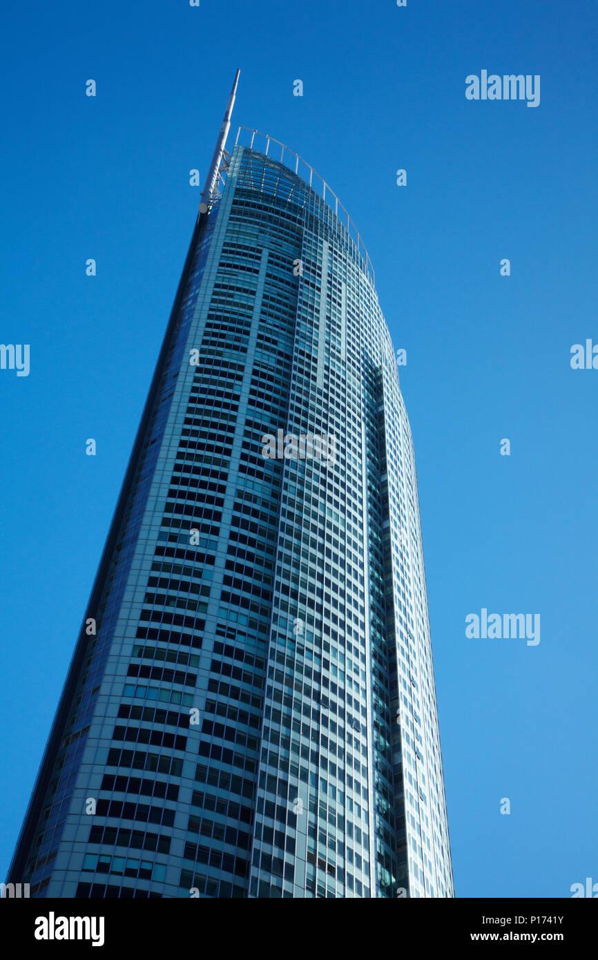 Q1 Skyscraper, Surfers Paradise, Gold Coast, Queensland, Australia - Stock Image