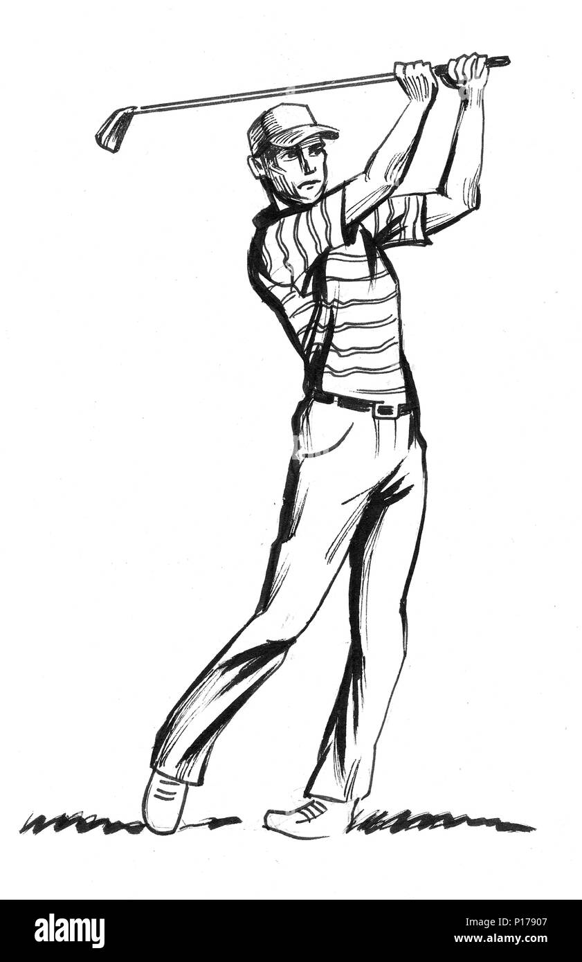 Golf Swing Illustrations Stock Photography - Image: 1358642