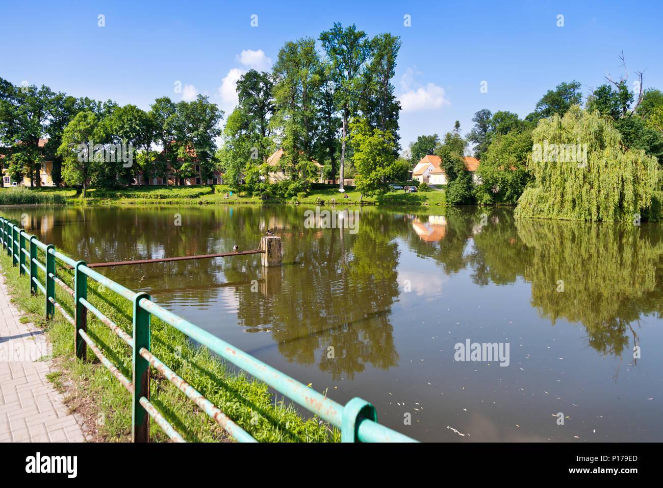 rybník Kostelák, Čimelice, Jihočeský kraj, Česká republika / town Cimelice, South Bohemian region, Czech republic Stock Photo