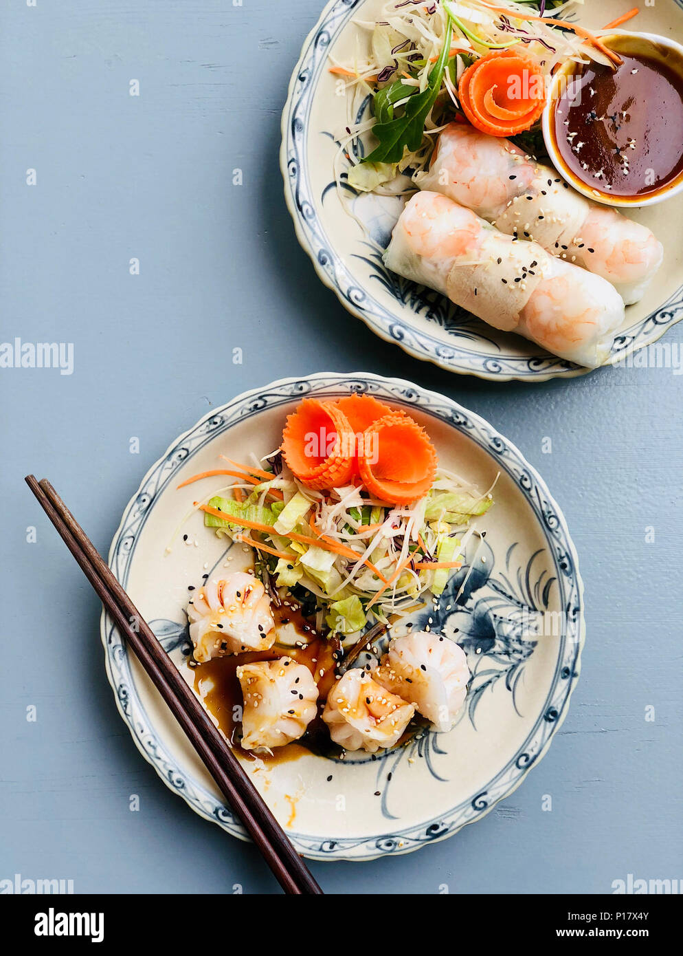 how to make dumplings with rice paper