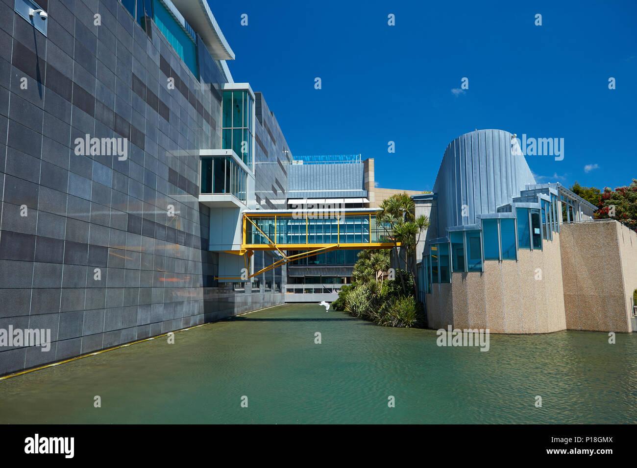 Te Papa Museum of New Zealand, Wellington, North Island, New Zealand - Stock Image