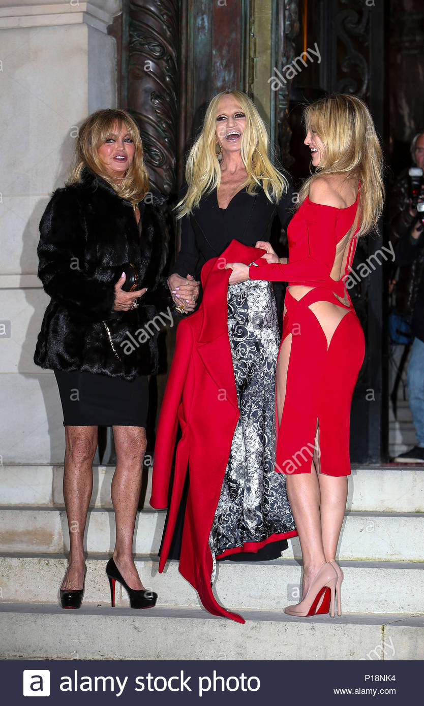 7f4e756a62f8c Donatella Versace Goldie Hawn And Kate Hudson Celebrities Arrive