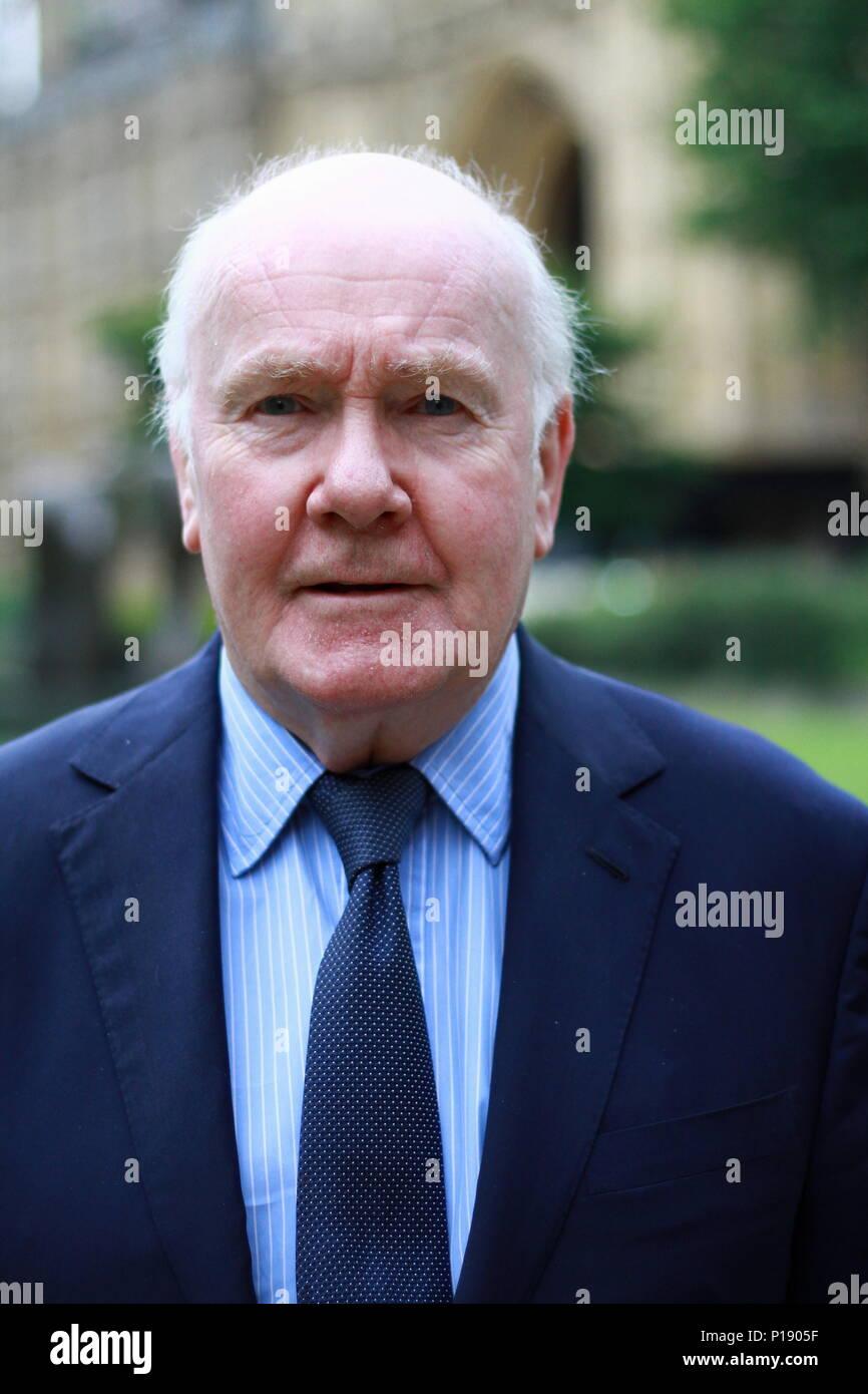 THE RT HON. LORD JOHN REID OF CARDOWAN photographed at College Green , Westminster , London, United Kingdom on 7th June 2018. John Reid. British politicians. MP. MPS. - Stock Image