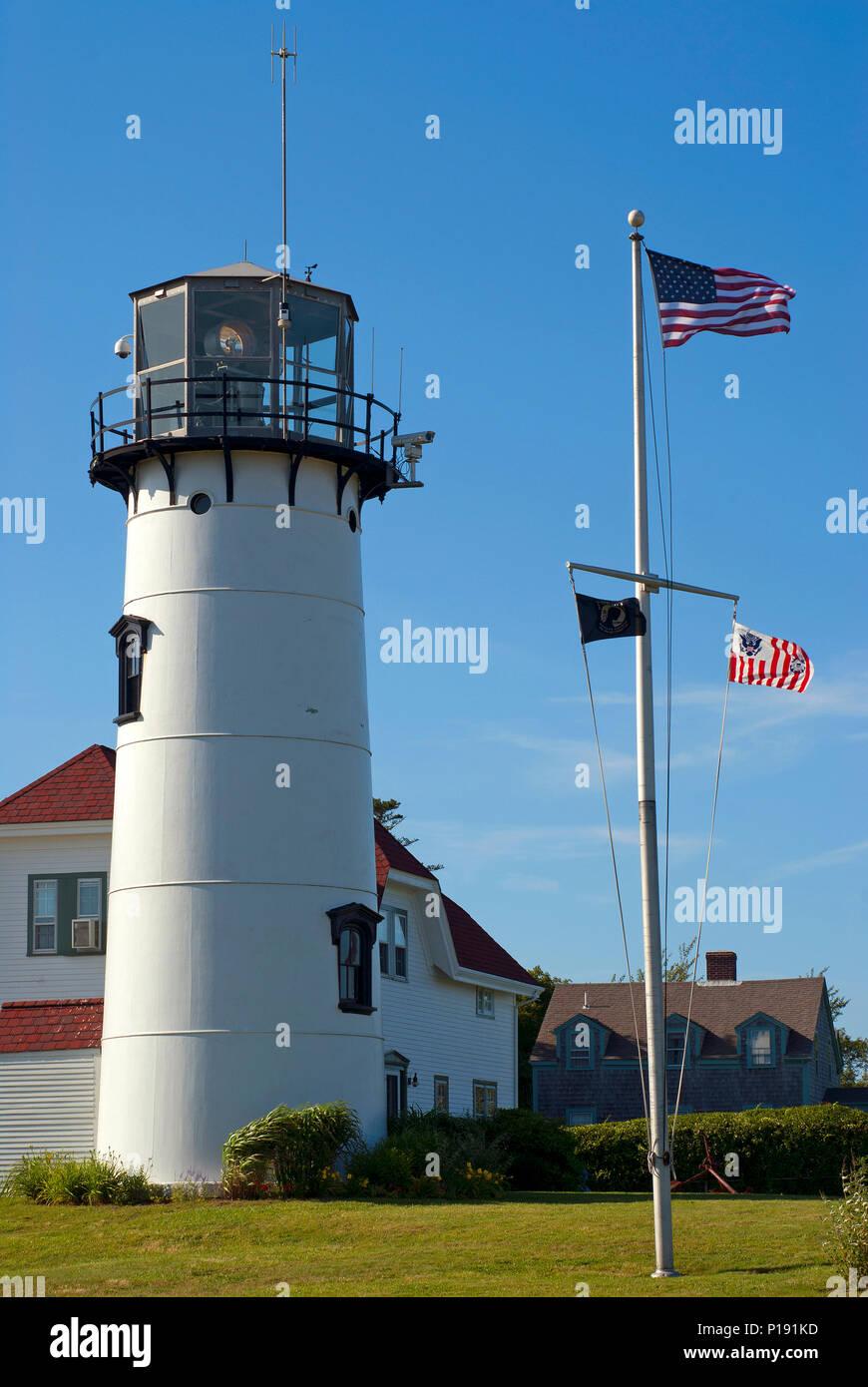 Chatham Lighthouse, Chatham, Barnstable County, Cape Cod, Massachusetts, USA - Stock Image