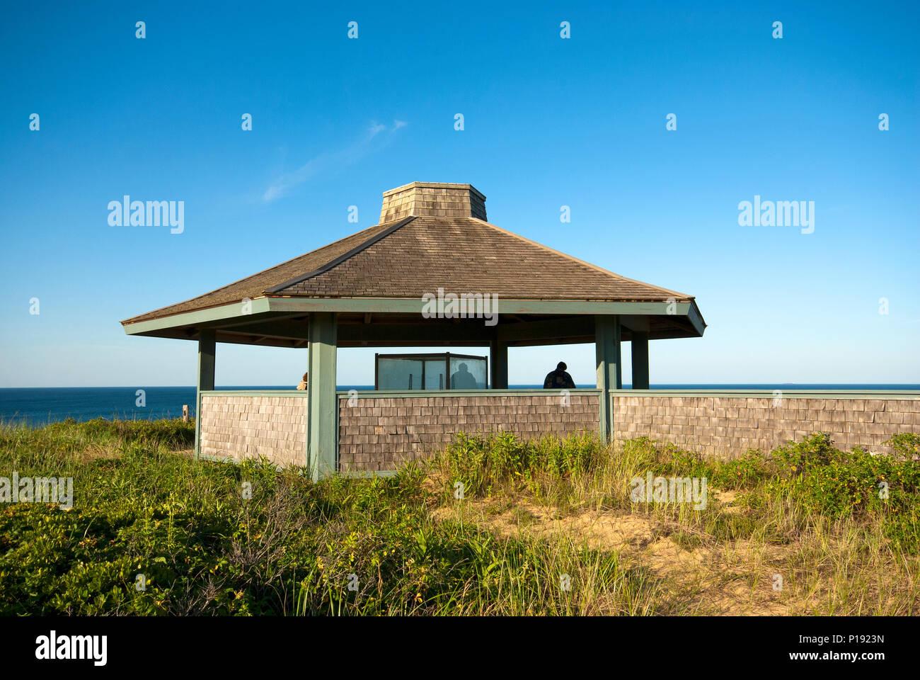 Marconi Transatlantic Wireless Telegraph Station, Wellfleet, Barnstable County, Cape Cod National Seashore, Massachusetts, USA - Stock Image