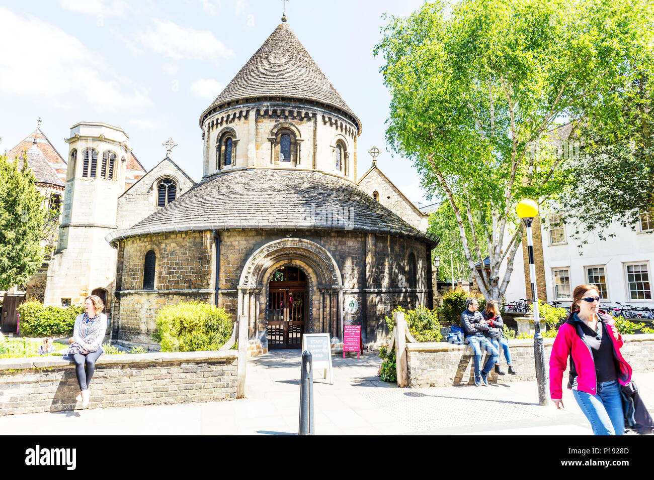 The Church of the Holy Sepulchre Cambridge, The Round Church Cambridge, Holy Sepulchre Cambridge, Holy Sepulchre, Cambridge, round church Cambridge, Stock Photo