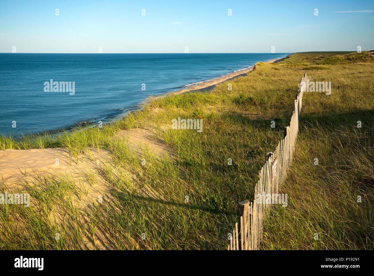 Marconi beach, Wellfleet, Barnstable County, Cape Cod National Seashore, Massachusetts, USA - Stock Image