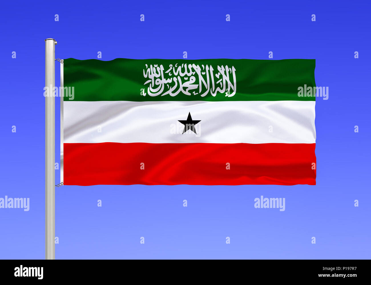 Flag of Somaliland, Africa, East Africa, the Horn of Africa, Flagge von Somaliland, Afrika, Ostafrika, Horn von Afrika - Stock Image